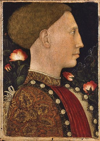 Leonello D'Este portrayed by Pisanello.