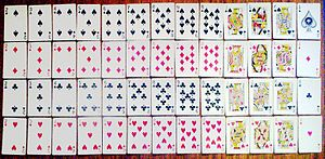 Set of 52 Anglo-American style playing cards