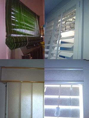Some pictures of window blinds I took and put ...