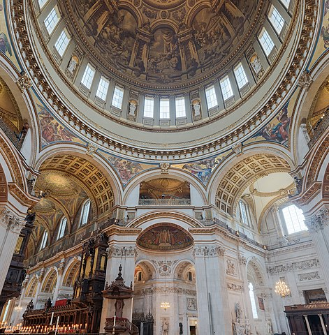 File:St Paul's Cathedral Interior Dome 2 crop, London, UK ...