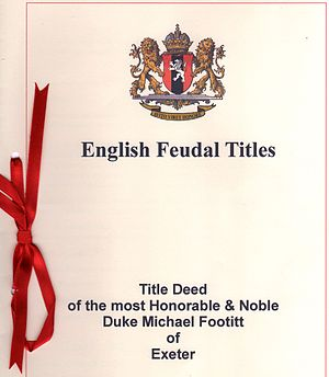 This is the title deeds for the Duke of Exeter.
