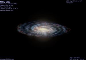 Español: Vía Láctea vista desde NGC 6822. Gene...