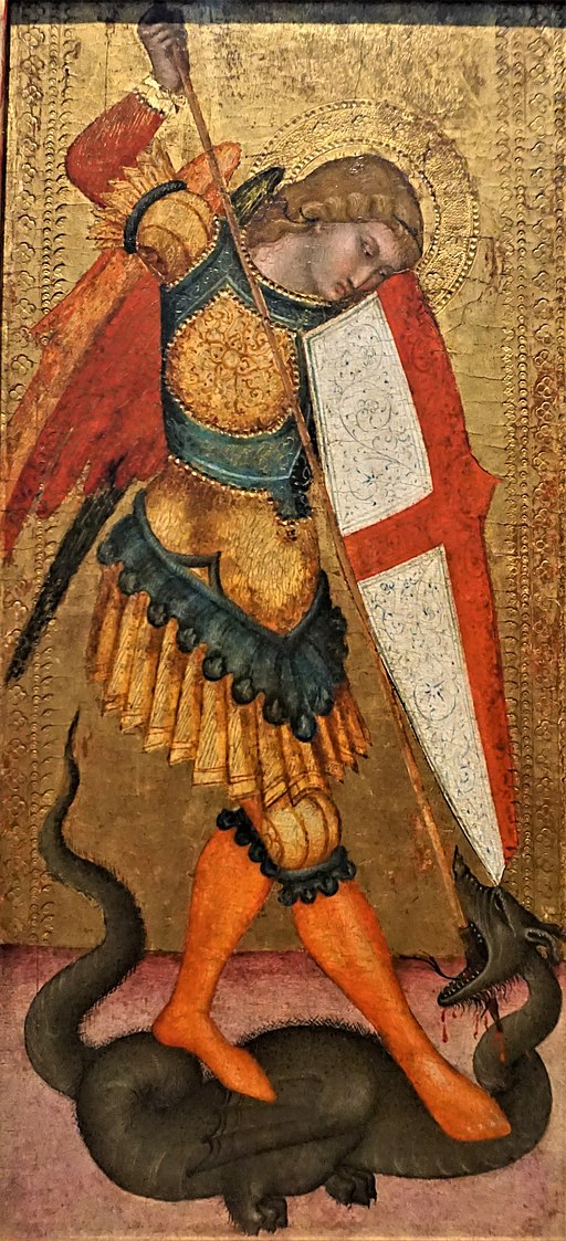 """Saint Michael and the Dragon"" by the Sienese School"
