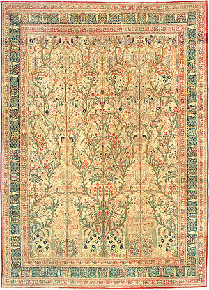 English: Antique Tabriz Persian Rug