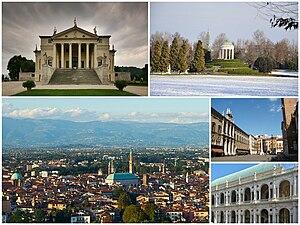 Italiano: Collage di varie foto di Vicenza