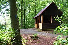 Die Schutzhütte Schöne Aussicht über Bad Driburg