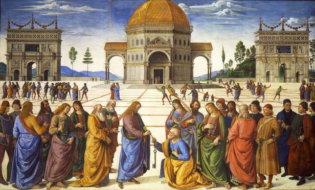 """""""Delivery of the Keys"""" by Pietro Perugino"""