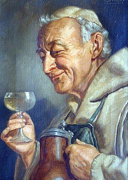 Ernst Stierhof (1888) German Monk drinking wine