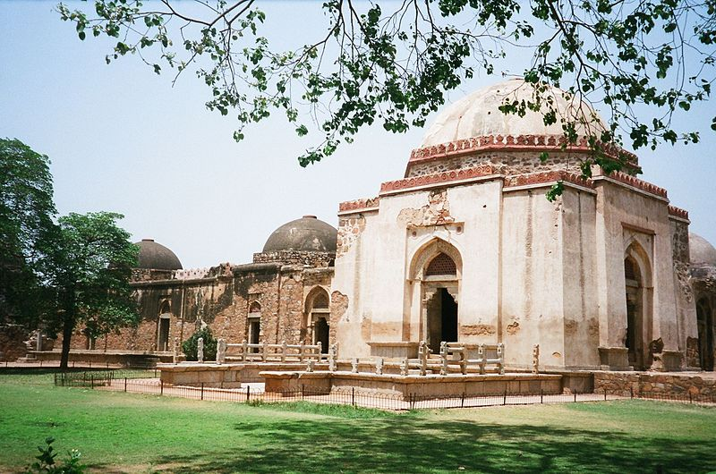 File:Feroze Sha's tomb with adjoining Madrasa.JPG