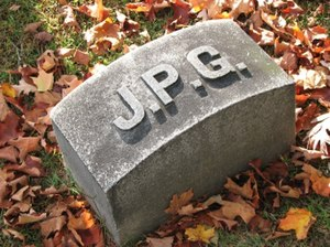 The gravestone of J.P.G.