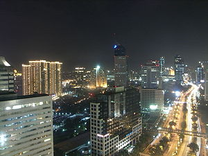 night view of Jakarta, Indonesia