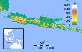 Peta memperlihatkan letak Taman Nasional Baluran