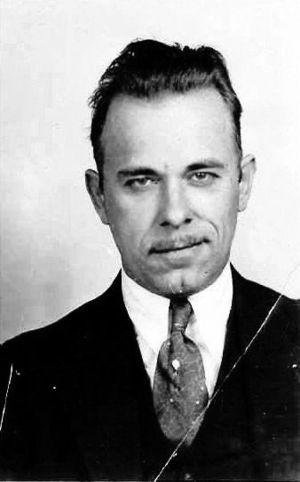 Mug shot of John Dillinger