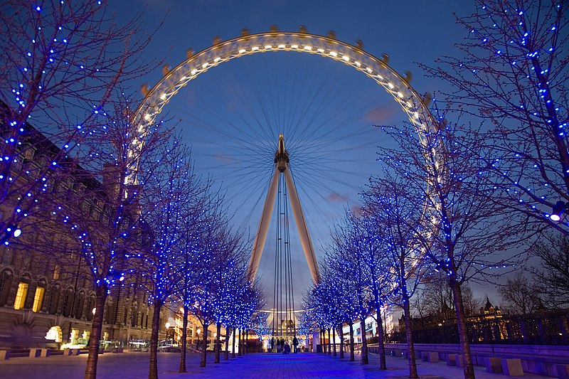 london eye di malam hari