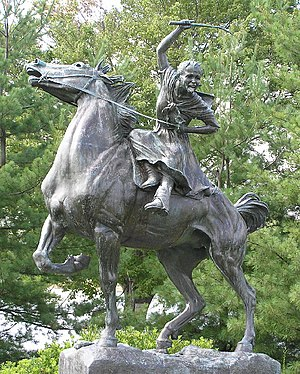 Statue of Sybil Ludington on Gleneida Avenue i...