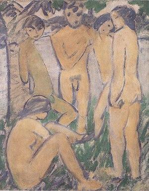 Otto Mueller - Fünf Akte am Wasser - ca1911