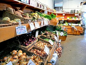 English: Over Farm produce The vegetables and ...