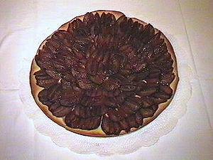 Pflaumenkuchen, a popular German pie
