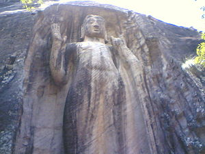 English: RESWEHERA BUDDA STATUE