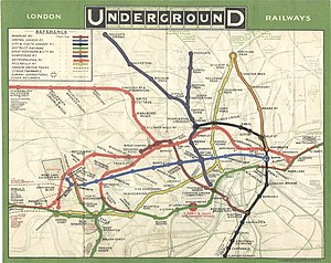 London Underground map from 1908