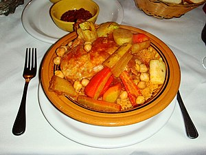 Tunisian couscous with chicken