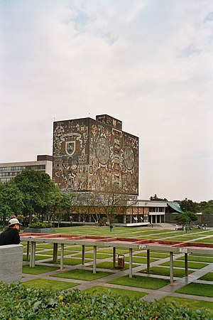 English: UNAM Central Library, Ciudad Universi...