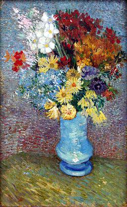 Van Gogh - Flowers in a blue vase - June 1887