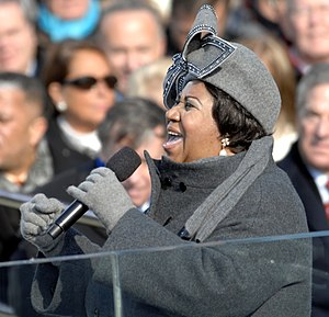 """Aretha Franklin sings """"My Country 'Tis Of..."""