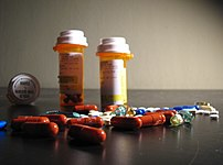 An assortment of drugs, including 150mg Effexo...