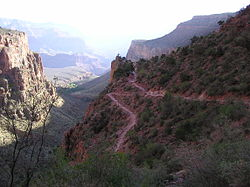 Bright Angel Trail at 3 Mile Rest Stop