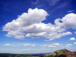 Cumulus clouds in fair weather