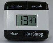 A digital timer for kitchen use.