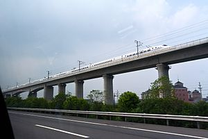 High speed rail, hangzhou