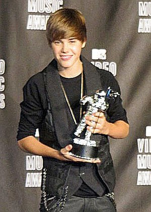 Justin Bieber at 2010 MTV Video Music Awards.