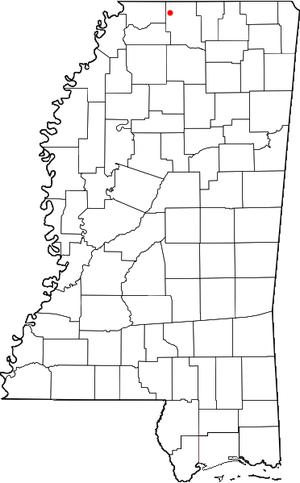Byhalia, Mississippi location map; created wit...
