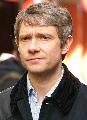 Chinatown, London. Martin Freeman during filmi...