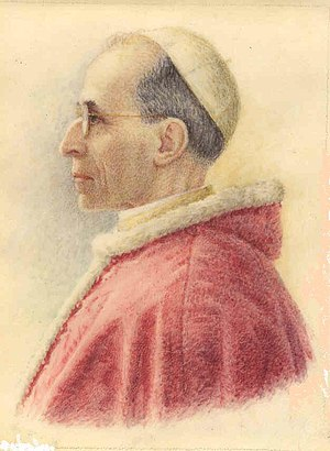 A picture of Pope Pius XII made after his elec...