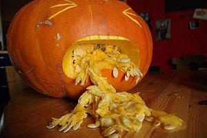 puke pumpkin (kürbis) halloween