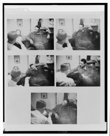 Duquesne in the office of Harry Sawyer (aka William Sebold), FBI, June 25, 1941