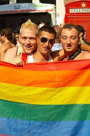 Happy participators of the London Europride 20...