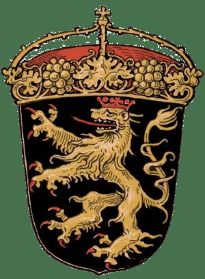 Coats of arms of the former Bavarian Kreis Rhe...