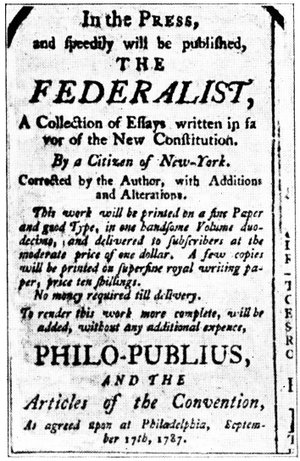 An advertisement for The Federalist.