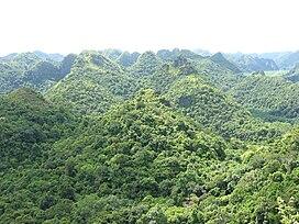 Vườn quốc gia Cát Bà nhìn từ đỉnh Cao Vọng