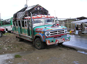 Chiva bus in Colombia.