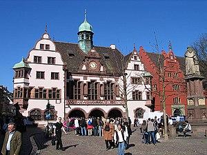 Deutsch: Neues und Altes Rathaus, Freiburg im ...