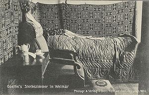 Deutsch: Goethes Sterbezimmer in Weimar Englis...
