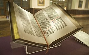 Gutenberg Bible of the New York Public Library...