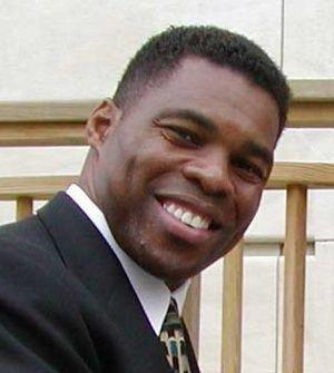 Cropped photo of Herschel Walker at PE4LIFE Da...