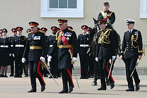 New Colours are presented to RMAS (Royal Milit...