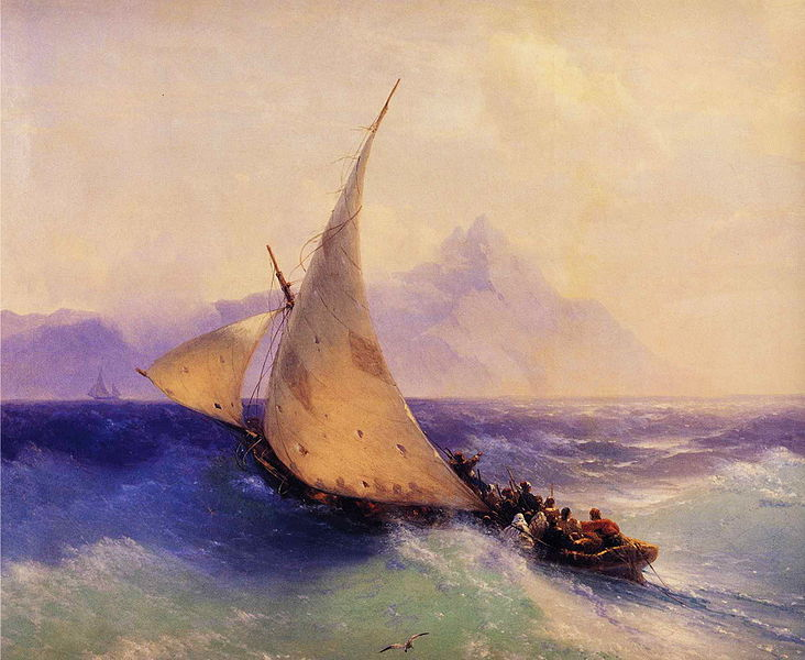 File:Ivan Constantinovich Aivazovsky - Rescue at Sea (detail).JPG